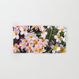 Hawaiian Pink Plumeria Blossoms Hand & Bath Towel
