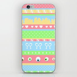 Creepy Cute Stripes iPhone Skin