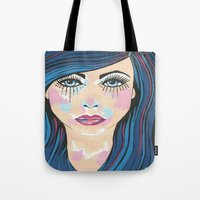 indigo Tote Bags featuring Indigo by Sartoris ART