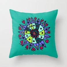 Cara Blue Throw Pillow