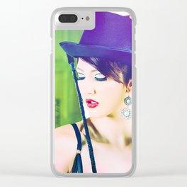 4951 Playful Lady Mistress Dancer Clear iPhone Case