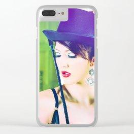 4951 Playful Lady Mistress Dancer Clear iPhone Case