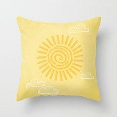 Primitive Sun (Warm Variant) Throw Pillow