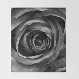Black Rose Flower Floral Decorative Vintage Throw Blanket