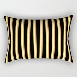 Between the Trees - Black, Orange & Yellow #557 Rectangular Pillow