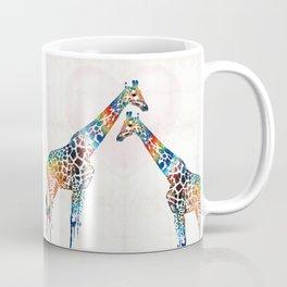 Colorful Giraffe Art - I've Got Your Back - By Sharon Cummings Coffee Mug