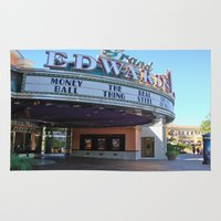movies Area & Throw Rugs featuring Day at the movies by Debra Slonim Art & Design