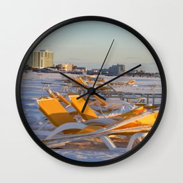 Calm Chaos at the Beach Wall Clock