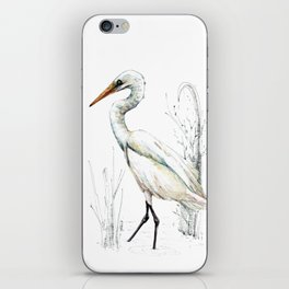 Mr Kotuku , New Zealand White Heron iPhone Skin