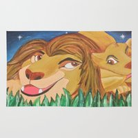 simba Area & Throw Rugs featuring Quality Time by Stacey Lee