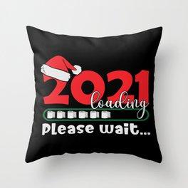 2021 Loading Please wait Toilet Christmas Throw Pillow