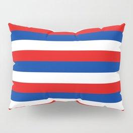 blue white red stripes Pillow Sham
