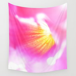 Pink Flower Abstract Wall Tapestry