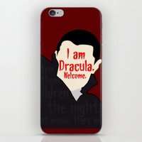 dracula iPhone & iPod Skins featuring Dracula by Swell Dame