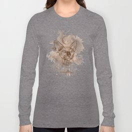 Watercolor Sphynx (Sepia/Coffee stain) Long Sleeve T-shirt