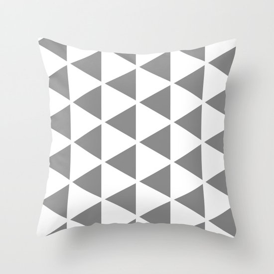 Sleyer Grey on White Pattern Throw Pillow