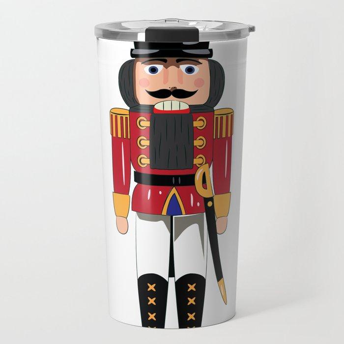 Christmas Nutcracker.Christmas Nutcracker Soldier Travel Mug By Gaynorcarradice
