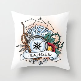 Ranger - Vintage D&D Tattoo Throw Pillow
