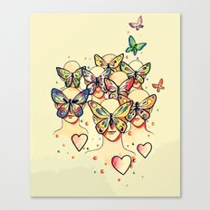 Butterfly Caught Canvas Print