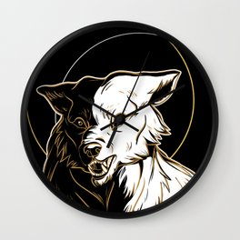 Wolf Splendor Wall Clock
