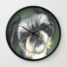 Oliver the cutest Brussels Griffon I have ever seen Wall Clock