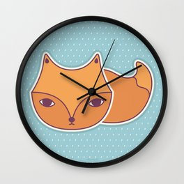 little fox Wall Clock
