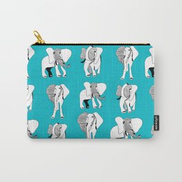 The Blue Elephant March Carry-All Pouch
