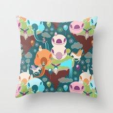 Fantasy Islands Throw Pillow