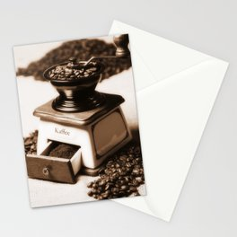 Coffee grinder Stationery Cards
