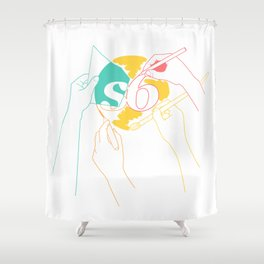 S6 Hand Crafted Shower Curtain