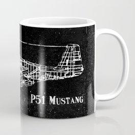 North American P51 Mustang (Dark) Coffee Mug