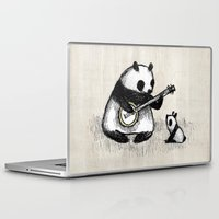 banjo Laptop & iPad Skins featuring Banjo Panda by Sophie Corrigan