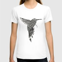 plain T-shirts featuring HummingBird Plain by efan