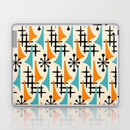 Mid Century Modern Atomic Wing Composition Orange & Blue Laptop & iPad Skin