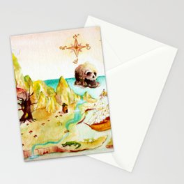 Peter Pan Map Stationery Cards