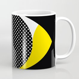 three eyes, in different clors, one up each other. Coffee Mug