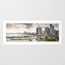 Chicago Skyline Pictures Art Print