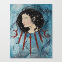 Queen of Swords Canvas Print