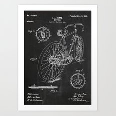 Bicycle Patent Art Print