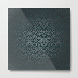 Jasmine Celtic Knotwork Metal Print