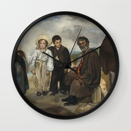 Edouard Manet The Old Musician 1862 Painting Wall Clock