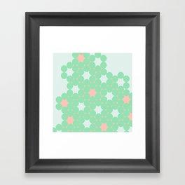 Teal Dot Framed Art Print