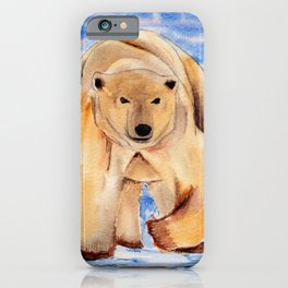 ours blanc iPhone Case