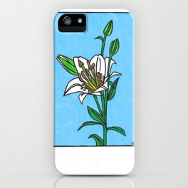 white lily iPhone Case