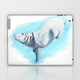 Baby Hippo On Toe Underwater Fantasia Ballet Laptop & iPad Skin