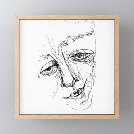 Doodle Face 5 by Kathy Morton Stanion Framed Mini Art Print