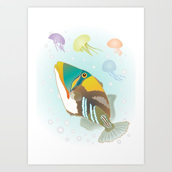 Triggerfish Art Print