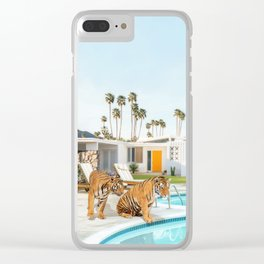 Tigers at the Pool Clear iPhone Case