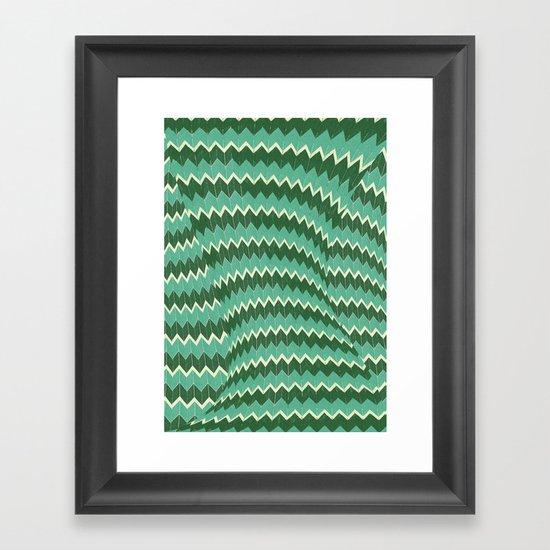 kiss your zig zag Framed Art Print