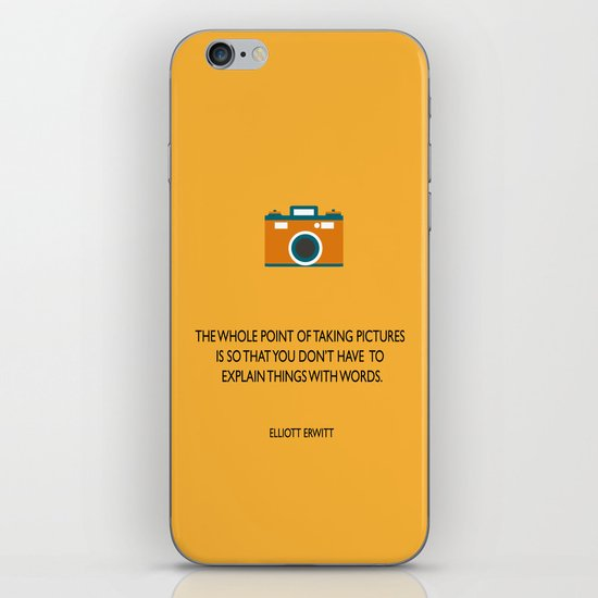 Taking pictures iPhone & iPod Skin